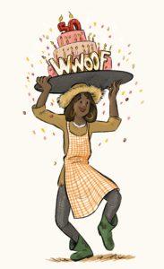 WWOOF 50 illustration